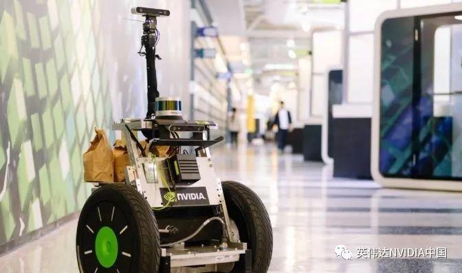 在NVIDIA,送爆米花的机器人竟也佩戴工牌?