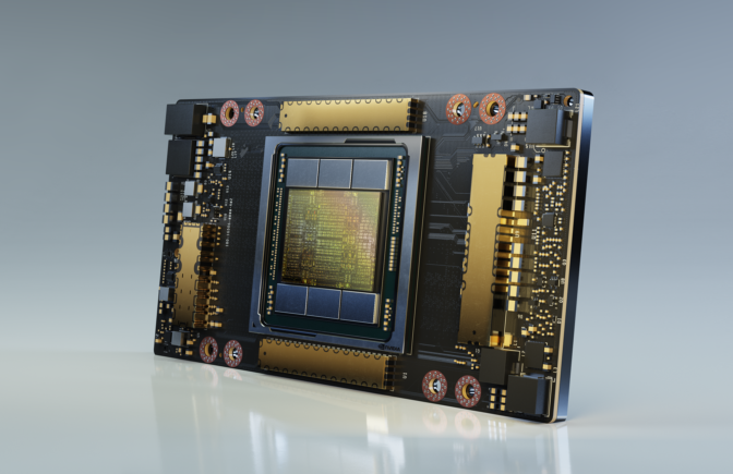黄仁勋介绍基于NVIDIA Ampere架构首支NVIDIA A100 GPU