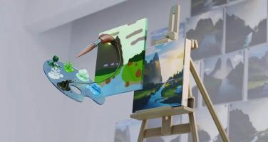 使用NVIDIA Canvas将草图变成精美绝伦的风景画